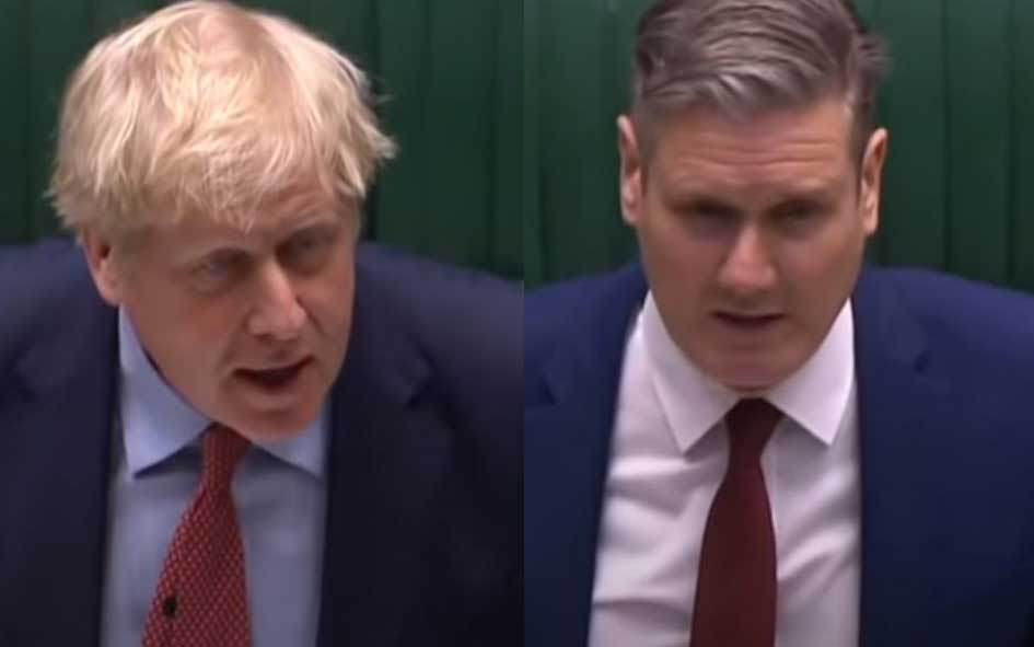 Boris Johnson and Sir Keir Starmer - Prime Minister: Engagements (8 Jul 2020)